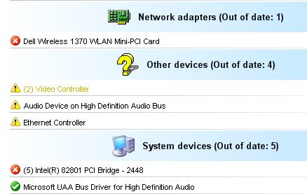 Unknown Device Drivers Results